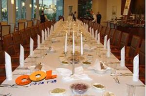 וארשה: מאות אנשי עסקים בסעודת שבת עם חב