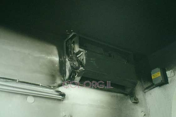 קצר במזגן גרם לדליקה בבית כנסת חב