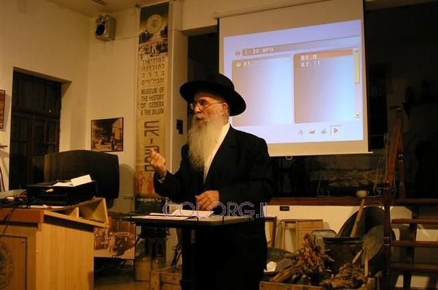 הרב יחזקאל סופר בערב עיון על תוכנו של החג בגדרה