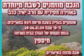 שבת חסידית ברמת הגולן עם הרב יאיר כלב (פ)