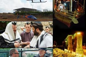 ביקור ה'גבירים': מסוקים, יאכטות, ג'יפים וצ'ק מהרבי ● תיעוד ענק