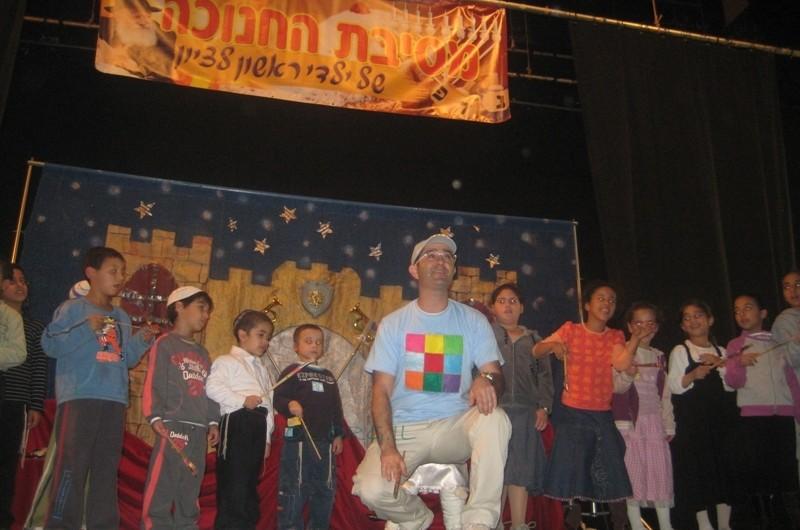חנוכה: מאות ילדים בכינוס ענק בראשון לציון