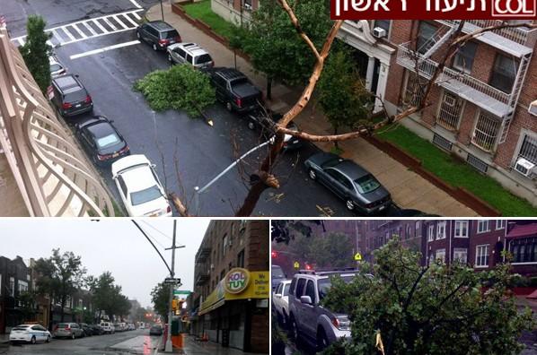 הסופה הגיעה לקראון הייטס ● תמונות ראשונות