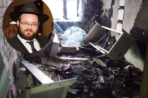ביתו של השליח בוורשא עלה באש: אנ