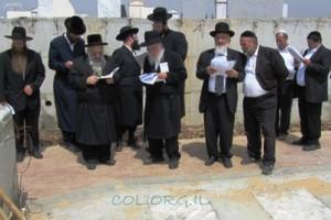 קידוש חלקת בית העלמין בקריית גת במעמד הרבנים הראשיים