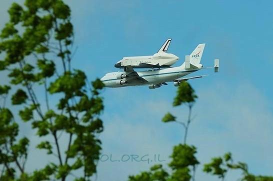 אטרקציה בניו-יורק: מעבורת חלל בשמים ● צפו בתיעוד