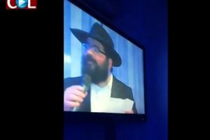 החוגגים נדהמו: הרב מיכאל טייב נאם ברוסית ● צפו בוידאו