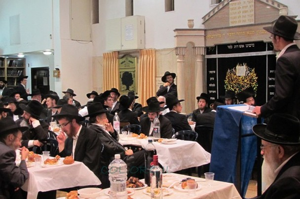 ירושלים: מאות בהתוועדות המרכזית של ח