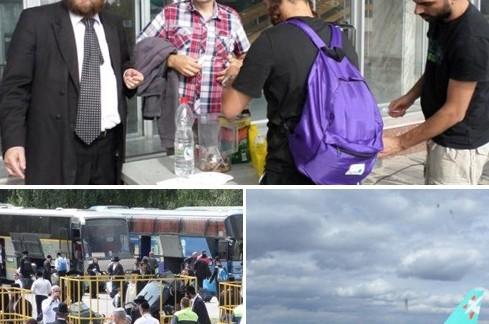 בדרך לאומן: חסידי ברסלב מקבלים סיוע מחב