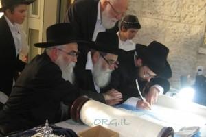 רמת בית שמש א': הוכנס ספר תורה לבית כנסת חב