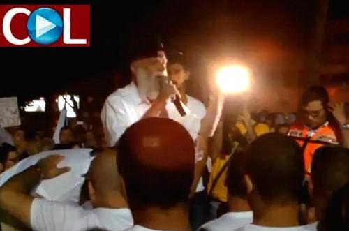בהפגנה בעפולה: השליח ריגש את המשתתפים ● צפו בוידאו