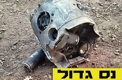 רסיס טיל נפל באיזור כפר-חב