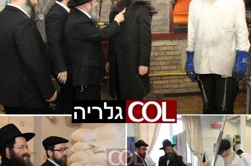 הרב אשכנזי ביקר במאפיית המצות בדנייפרופטרובסק