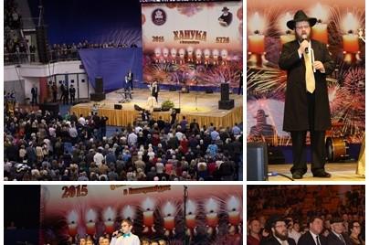 יקטרינבורג: המושל ו-7000 איש באירוע חנוכה