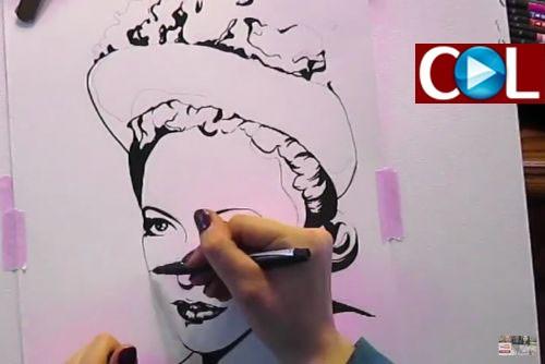 ציור הרבנית ● צפו בוידאו