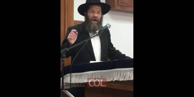 הרב מאיר אשכנזי בשיעור אודות הלכות צניעות
