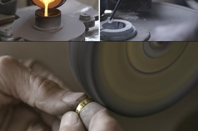 כך מכינים טבעת נישואין ממטבע הרבי ● וידאו (פ)