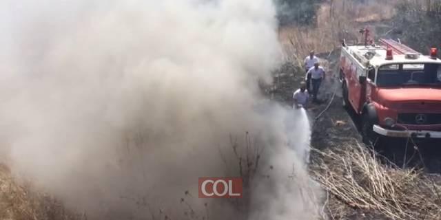 שריפה בכפר חבד ליד המעון