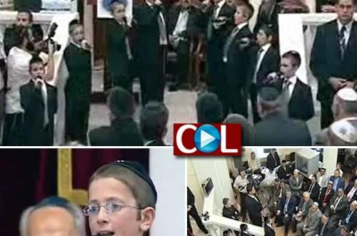 כשמקהלת אהלי מנחם ריגשה את שמעון פרס ● וידאו