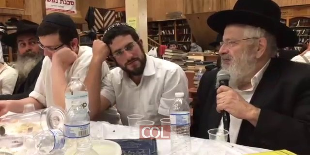 הרב דרוקמן בהתוועדות יארצייט להרב צייטלין
