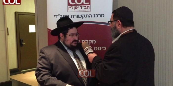 השליח הרב מענדל פעלער בראיון ל-COL