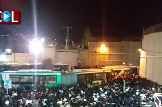 אלפים הגיעו לקבר רחל; מערך התחבורה קרס
