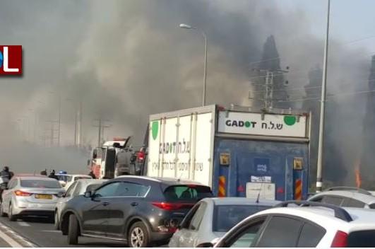 שריפה גדולה ליד כפר חב