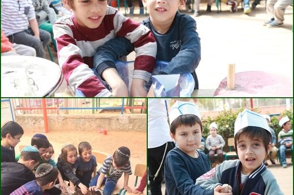 ילדי הגנים בתלמוד תורה בכפר חב