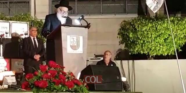 הרב ירוסלבסקי נואם לזכר הנופלים על קידוש השם