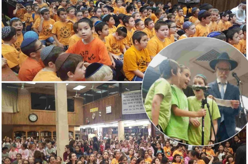 770: מאות ילדים השתתפו בראלי ענק ● תיעוד