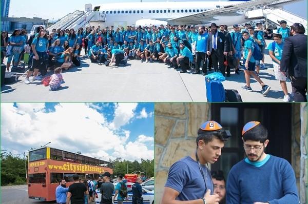 כ-150 בני הנוער הגיעו בטיסת צ'רטר לבולגריה