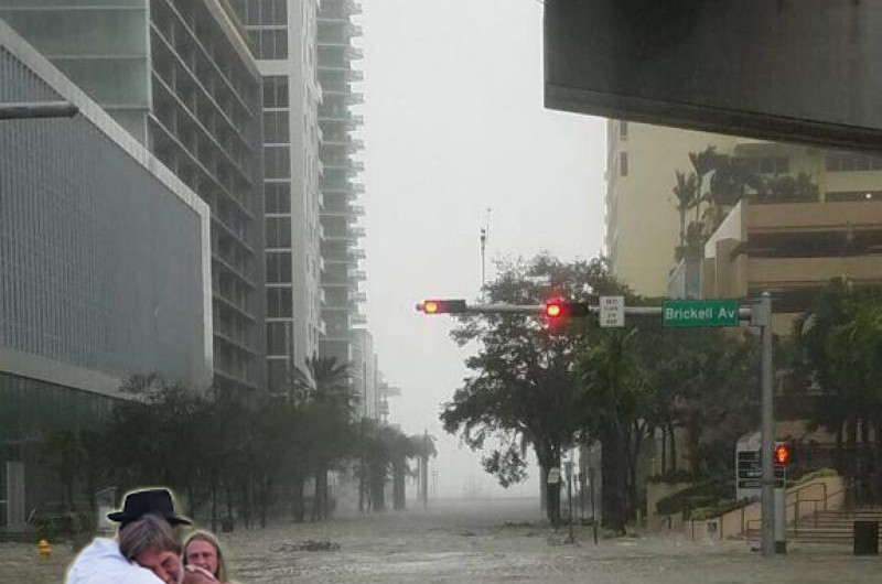 הוריקן 'אירמה' הגיע לפלורידה: מרכז חב