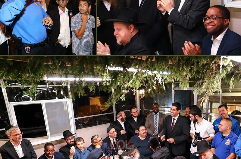 חברי קונגרס ביקרו בסוכה והצטרפו לשמחת בית השואבה