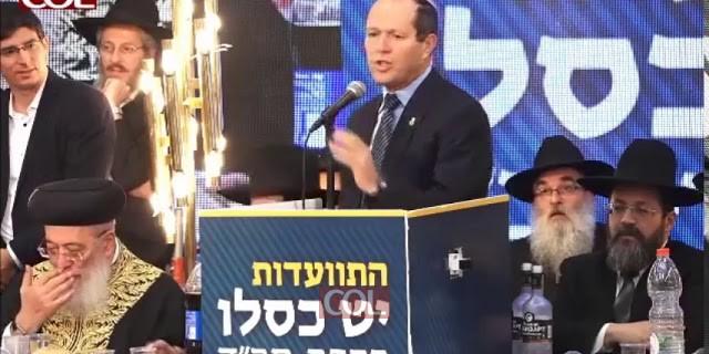 ראש עיריית ירושלים ניר ברקת בהתוועדות המרכזית של י
