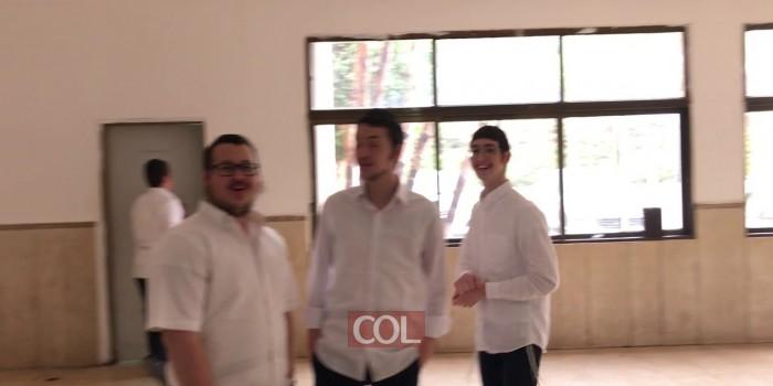 הריקודים בישיבה המרכזית בכפר חב