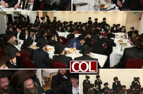 לונדון: הרבנים גארדאן וסלבטיצקי ריתקו מאות חסידים בהתוועדות