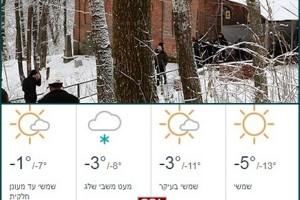 האדיטש: מזג אוויר נח (יחסית) יקבל את פני האורחים