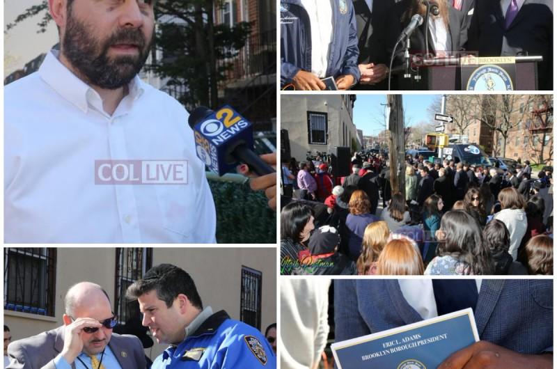 פוליטיקאים, עסקנים ותושבים הפגינו: 'סוף לאנטישמיות בברוקלין'
