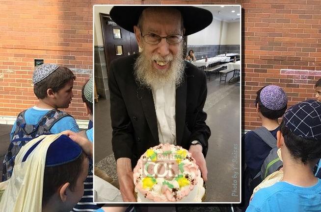 המחנך ציין יום הולדת 75: התלמידים הפתיעו בעוגה חגיגית