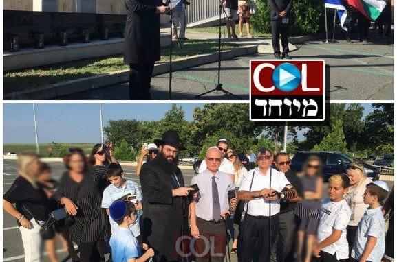 בנקודת הפיגוע: השליח ומשפחות הנרצחים אמרו 'שמע ישראל'