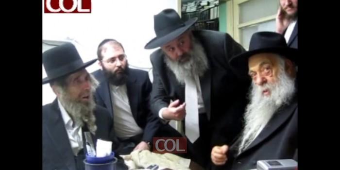 פגישת החויזר ר' יואל עם הרב שטיינמן
