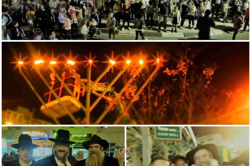 נווה זאב, באר שבע: אירועי החנוכה למרגלות חנוכיית הענק