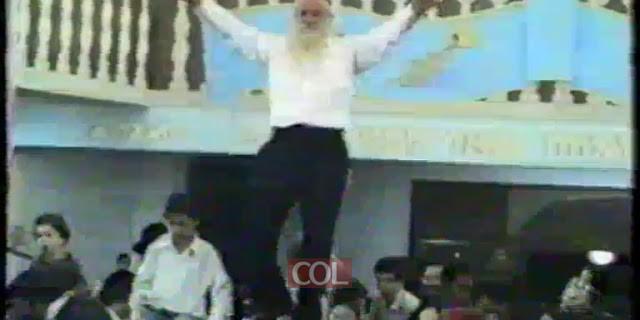 ר' אברהם ליסון בריקוד מיוחד - בית מנחם - תשמ