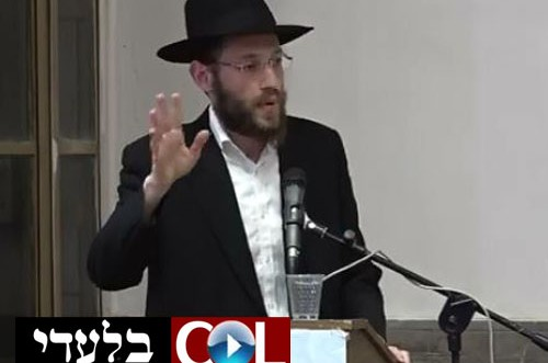 מעשה בפועל: הרב יעקב בלינוב עורר את התמימים ● צפו בוידאו