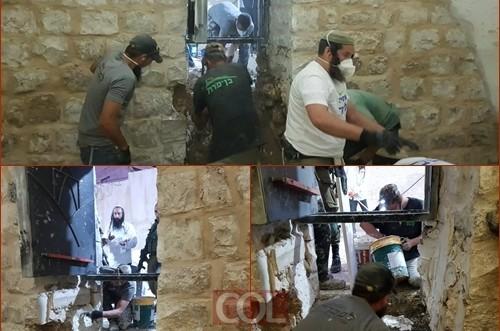 קבר יוסף שופץ אך הפלסטינים דרשו להחזיר המצב לקדמותו
