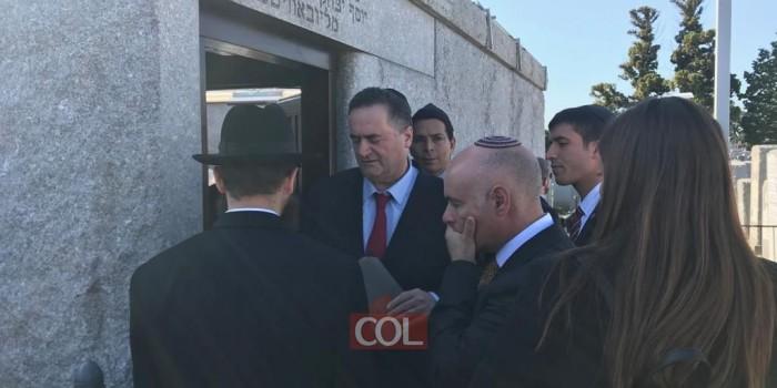 שר החוץ ישראל כץ, באמירת קדיש לע