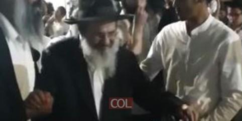 שמחה פורצת גדר: הרב יוסף מעטוף מצטרף לריקודי שמחת בית השואבה בנחל'ה