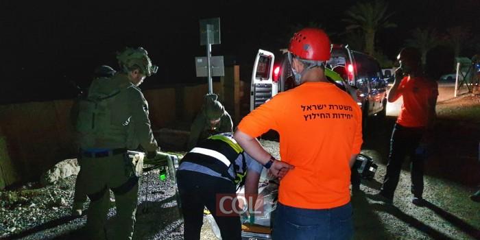 חילוץ תלמידי הישיבה שטיילו במדבר יהודה: אחד נהרג, שלושה נפצעו קל (צילום: דוברות המשטרה