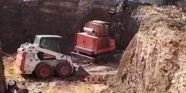 בשיא המרץ: בניית המקווה החדש בנחלת הר חב