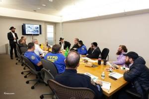 לקראת ה'כינוס': נציגי משטרת ניו יורק נפגשו עם אנשי ה'מרכז'
